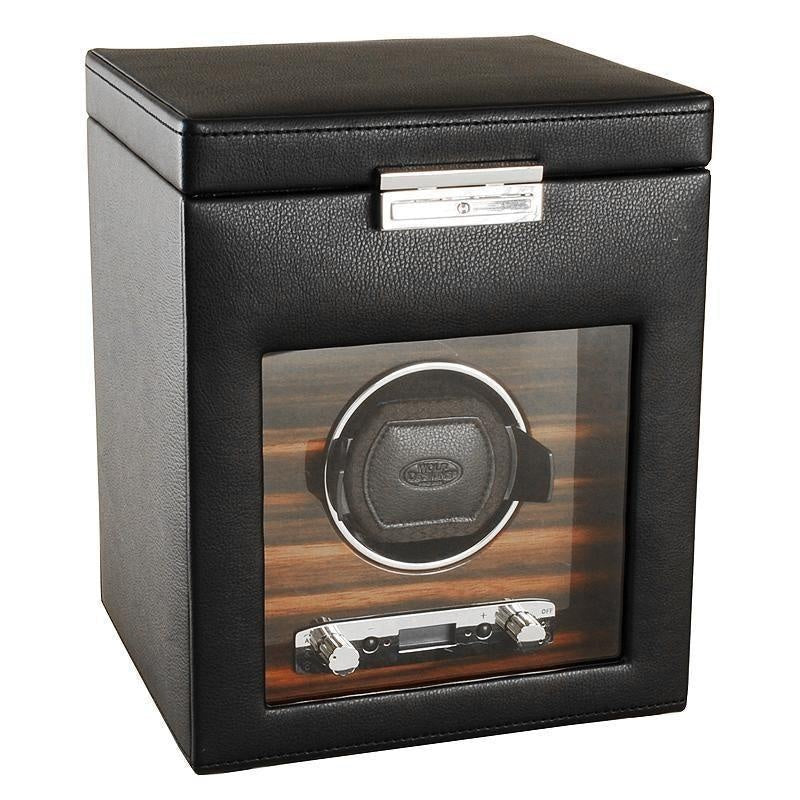 Wolf Designs ROADSTER 2.7 Watch Winder Rotator with Storage