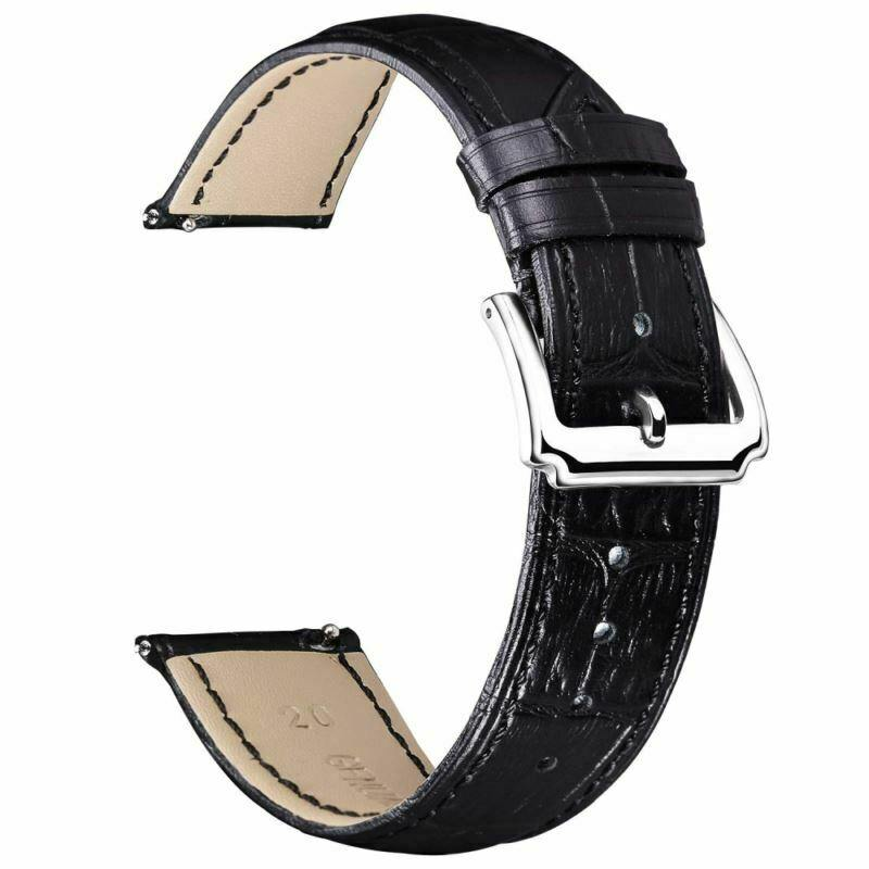 Replacement Watch Band Green Leather Quick Release Strap 10,12,14,15,16,17,18,19