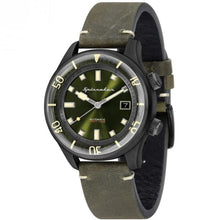 Load image into Gallery viewer, SPINNAKER Men's Bradner 42mm Green Leather Band Automatic Watch SP-5057-04