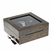 Load image into Gallery viewer, Premium Quality Dark Burl Wood Watch Collectors Box for 6 Watches by Aevitas