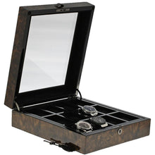 Load image into Gallery viewer, Premium Quality Dark Burl Wood Watch Collectors Box for 12 Watches by Aevitas