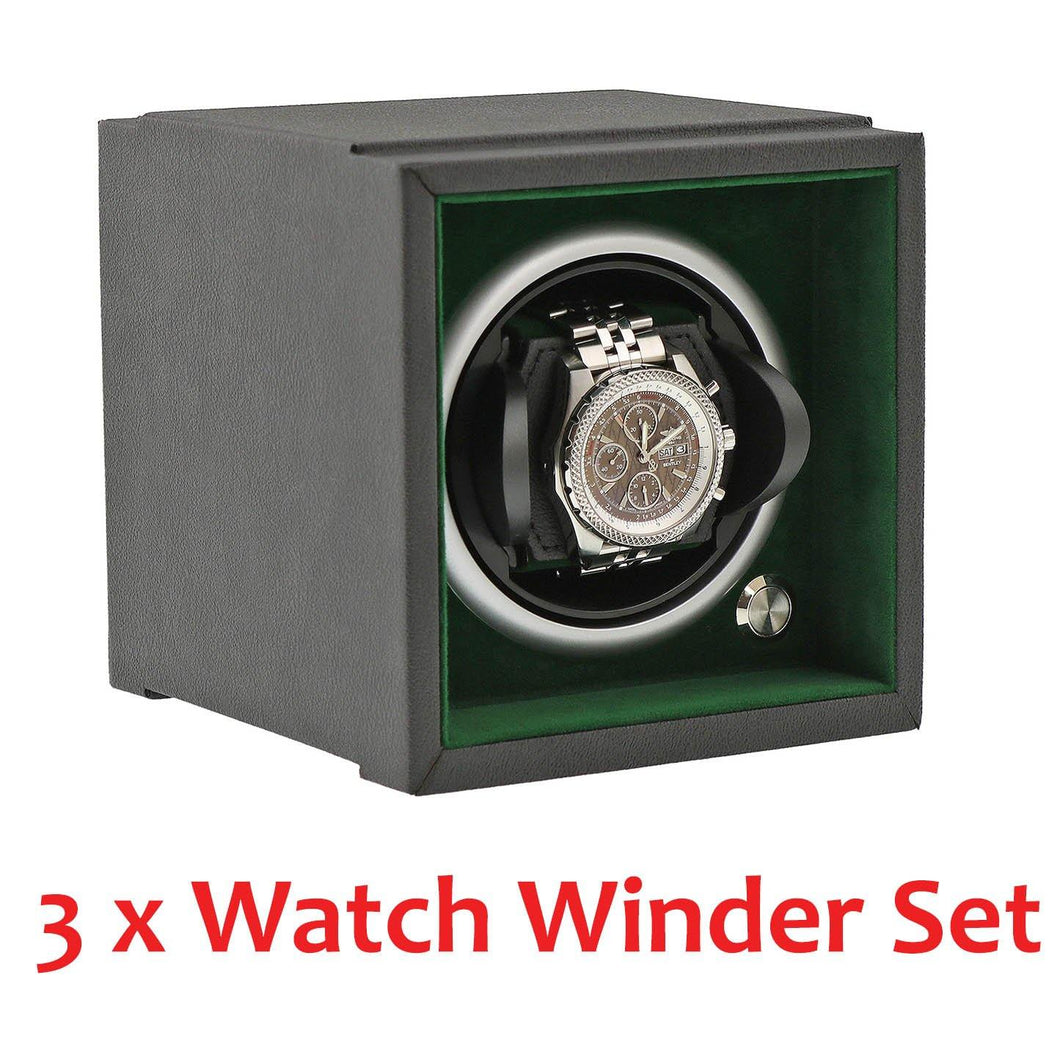 Modular Stacking Watch Winder by Aevitas - Larger Watch Version - Rolex Green Set of 3