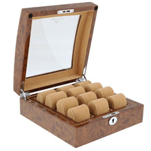 Load image into Gallery viewer, Superb Quality Burl Walnut Watch Collectors Box for 6 watches with Glass top by Aevitas