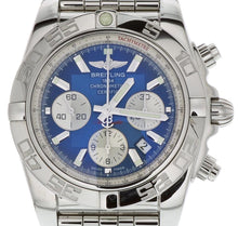 Load image into Gallery viewer, BREITLING Chronomat 44 Steel Automatic AB0110 with Blue Dial MINT CONDITION