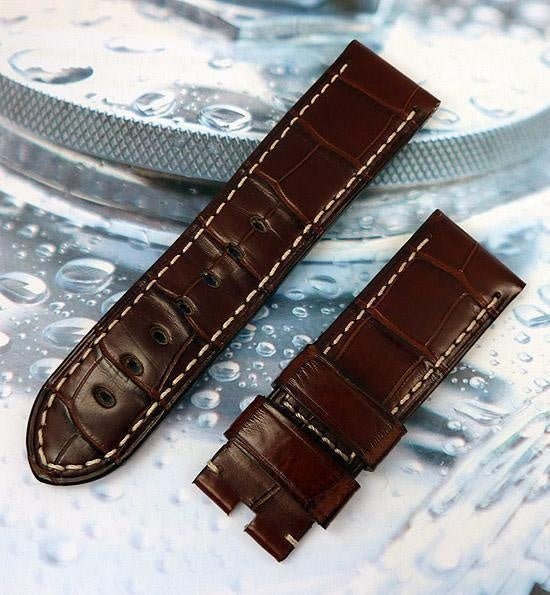 Dark Brown Alligator 24-22 mm Panerai Strap