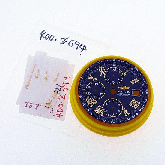Breitling Crosswind Blue Dial, Gold Roman Numerals + New Hands Set