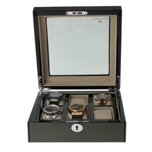 Load image into Gallery viewer, Superb Quality Carbon Fibre Watch Collectors Box for 6 watches with Glass top by Aevitas