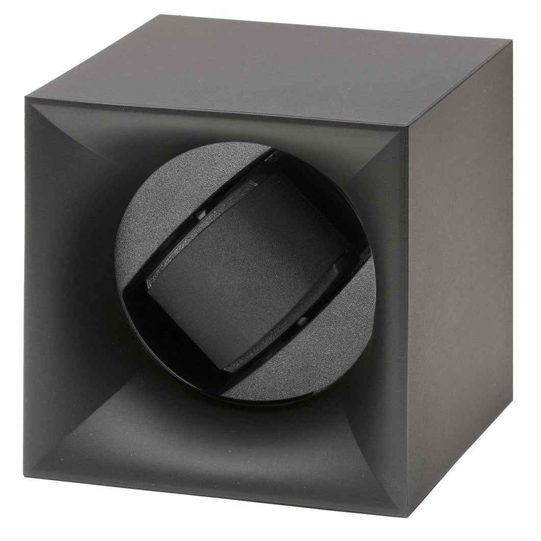 Swiss Kubik StartBox Single Watch Winder in Black Soft Touch Finish