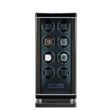 Load image into Gallery viewer, Tempus Watch Winder for 8 Watches Piano Black Finish with Finger Print Access