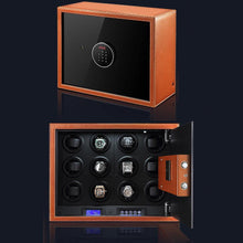 Load image into Gallery viewer, Tempus Safe Watch Winder for 12 Watches in Brown Genuine Leather