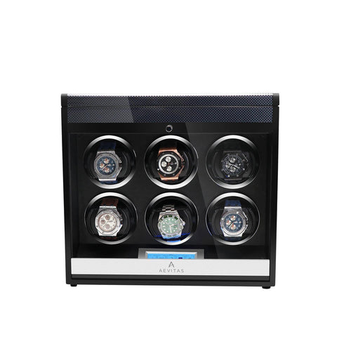 Aevitas Watch Winder for Six Automatic Watches in Carbon Fibre