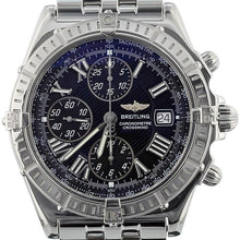 Load image into Gallery viewer, Breitling Crosswind Stainless Steel A13355 Black Dial Automatic