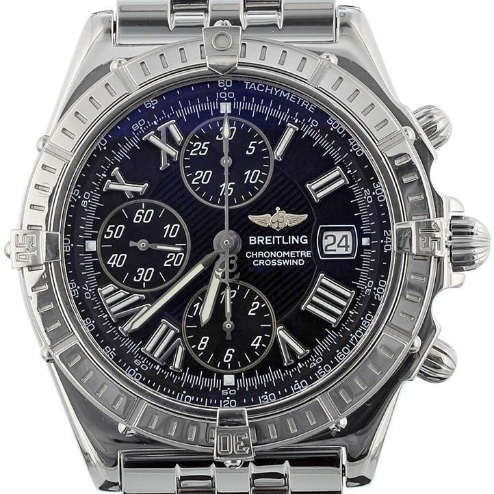 Breitling Crosswind Stainless Steel A13355 Black Dial Automatic