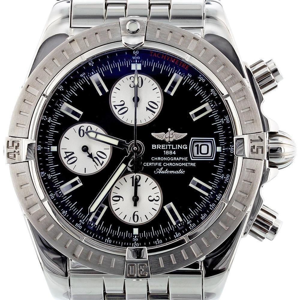 Breitling Chronomat Evolution 44 Stainless Steel A13356 with Box and Papers