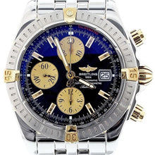 Load image into Gallery viewer, Breitling Chromomat Evolution 18K Gold and Stainless Steel B13356 Black Dial