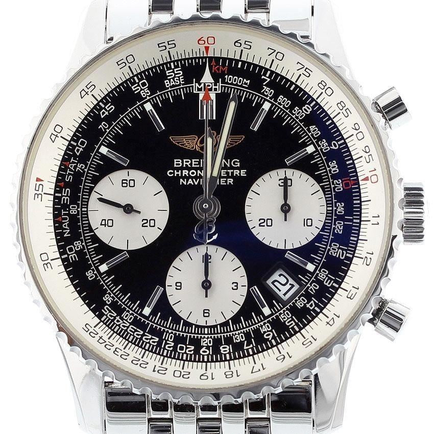 Breitling Navitimer Steel Automatic Mens Watch A23322 Box-Papers MINT