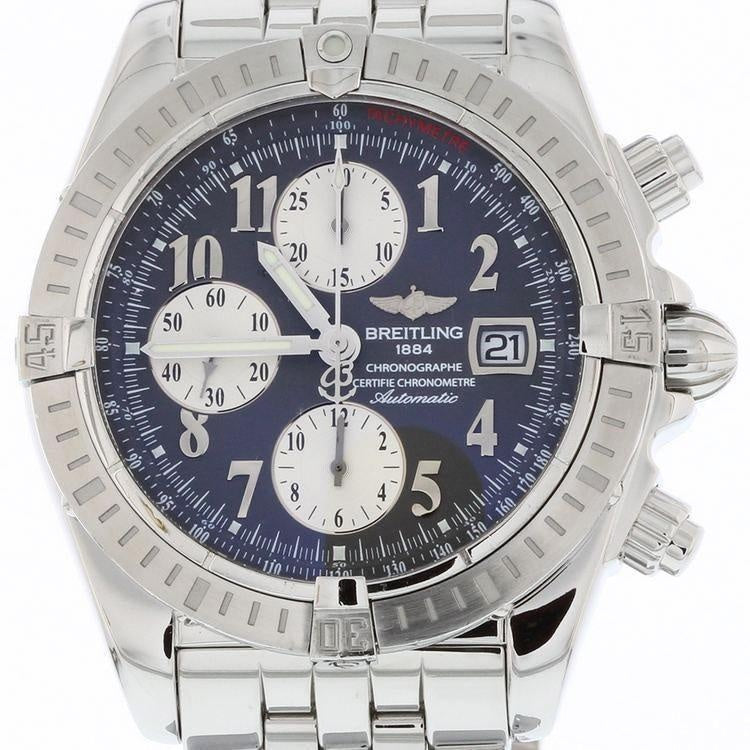 Breitling Chronomat Evolution 44 Stainless Steel A13356 with Box and Papers Anthracite Grey Numeral Dial