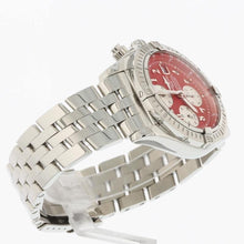 Load image into Gallery viewer, Breitling Chronomat Evolution Stainless Steel with Red Numeral Dial A13356
