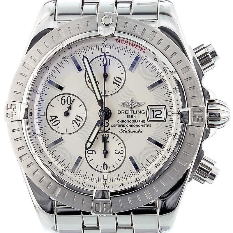Breitling Chronomat Evolution Model Stainless Steel with Silver Dial A13356