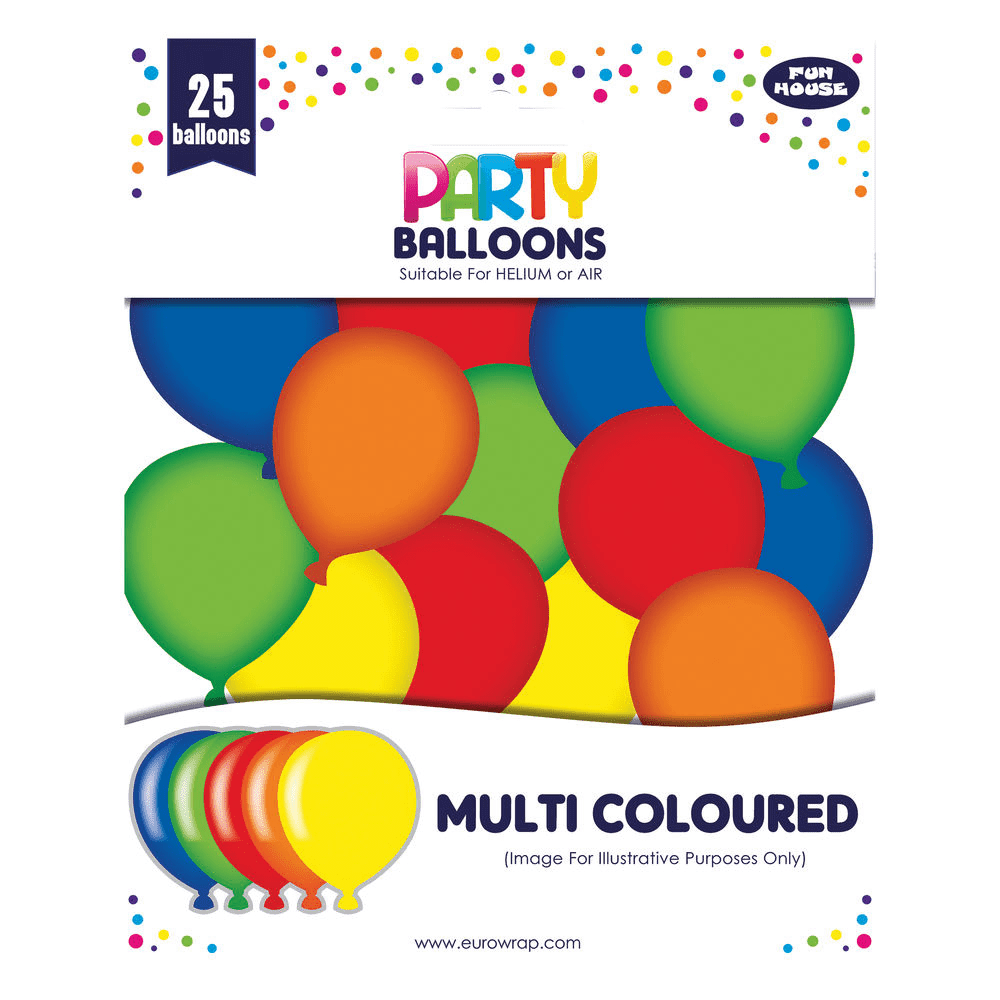 Rainbow Party Balloons (25 Pack)