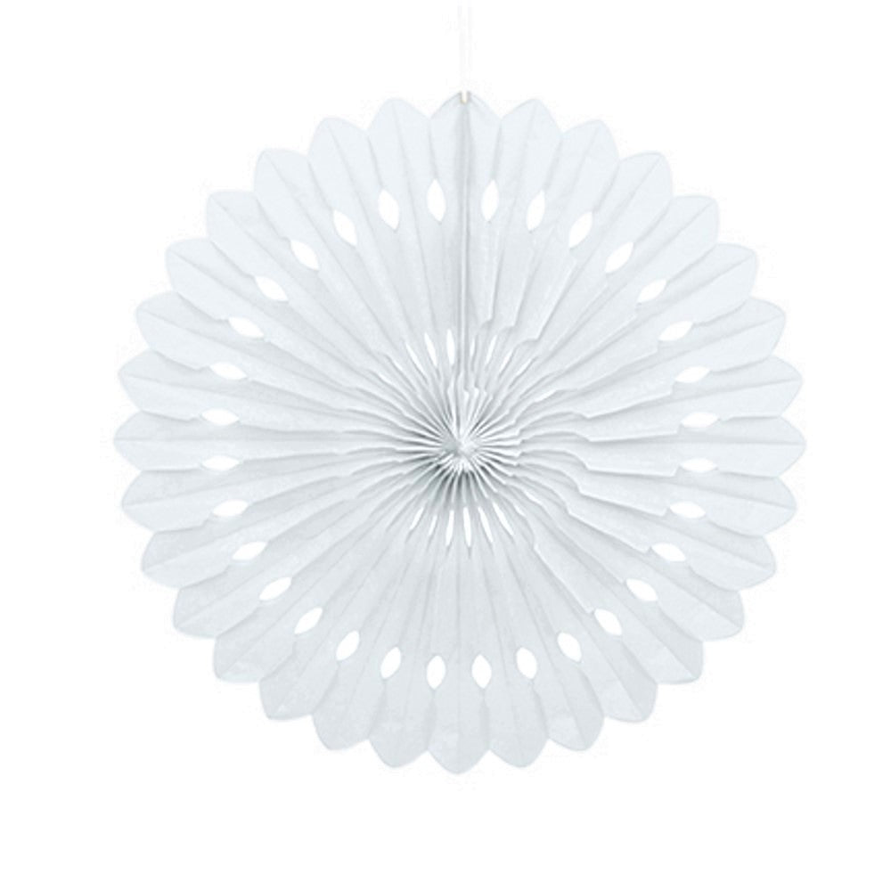 White Paper Fan Decoration