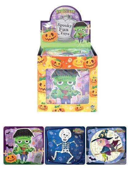 HENBRANDT 20 Spooky Jigsaw Puzzles Halloween Trick or Treat Party bag Fillers