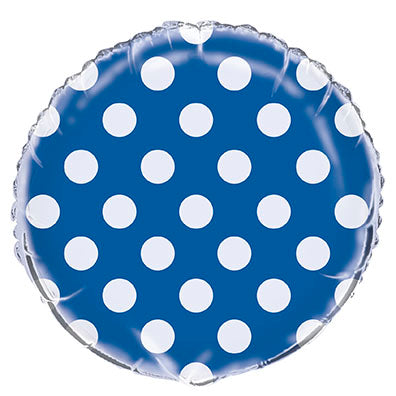 Royal Blue Polka Dot Foil Balloon