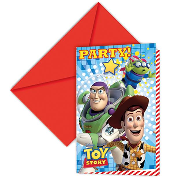 Toy Story Party Invitations 6pk