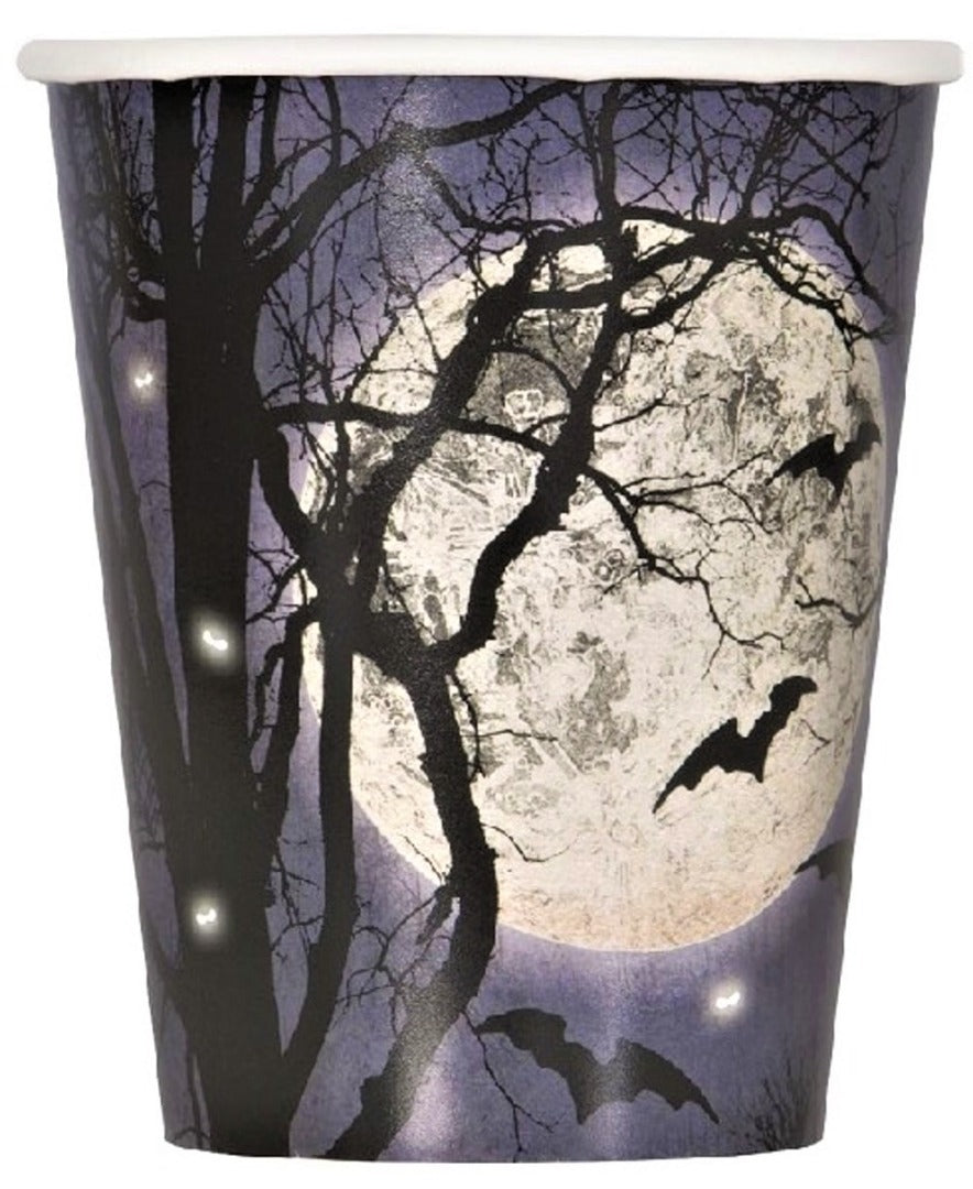Spooky Night Halloween Party Cups 8pk