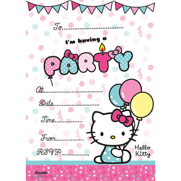 Hello Kitty Invitations 20pk