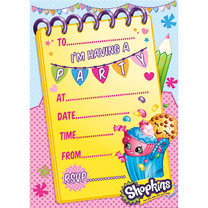 Shopkins Party Invitations 20pk