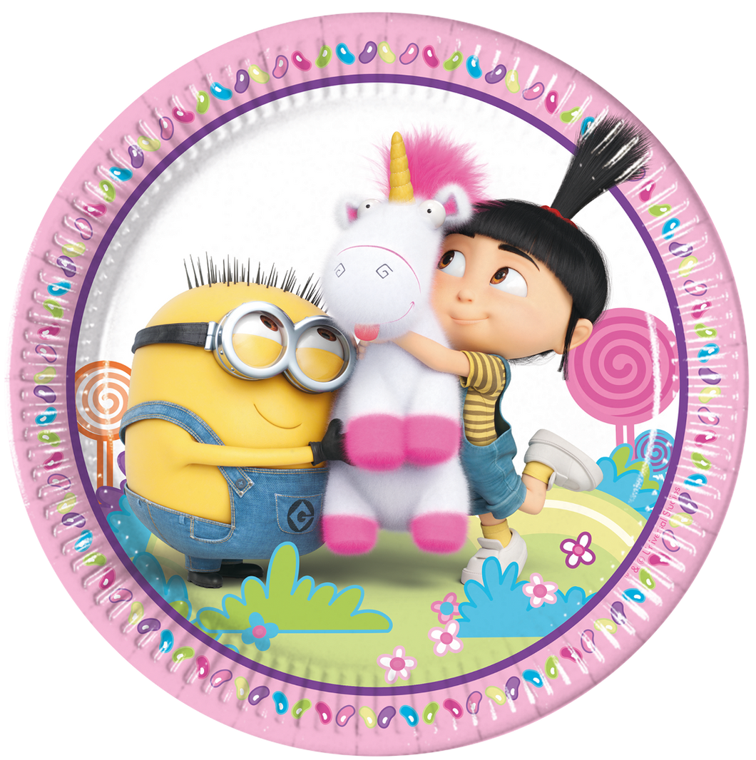 Despicable Me Fluffy Plates 8pk