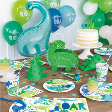 Load image into Gallery viewer, Dinosaur Paper Party Plates (22cm) 8pk