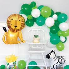 Load image into Gallery viewer, Green and White Balloon Arch