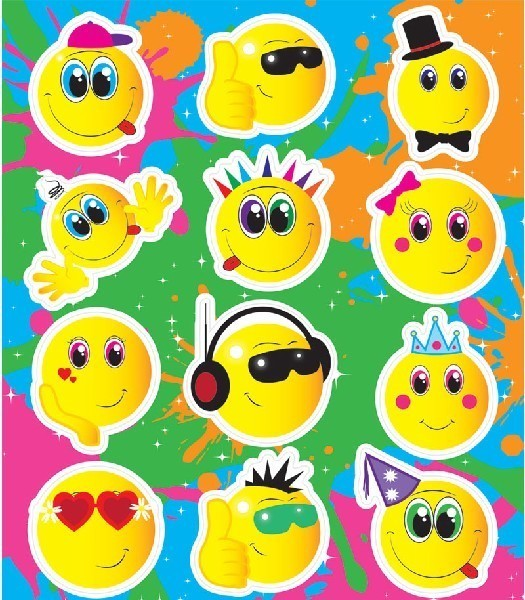Smiley Face Sticker Sheets