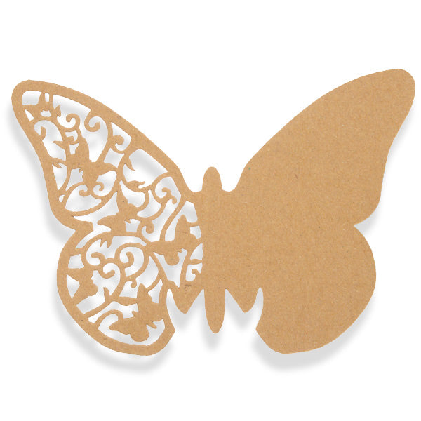 Kraft Brown Butterfly Place Cards 10pk