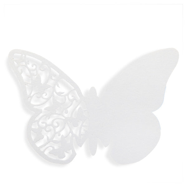 White Butterfly Place Cards 10pk