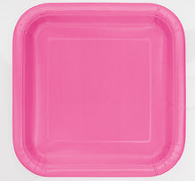 Load image into Gallery viewer, Hot Pink Square Paper Party Side Plates 16pk
