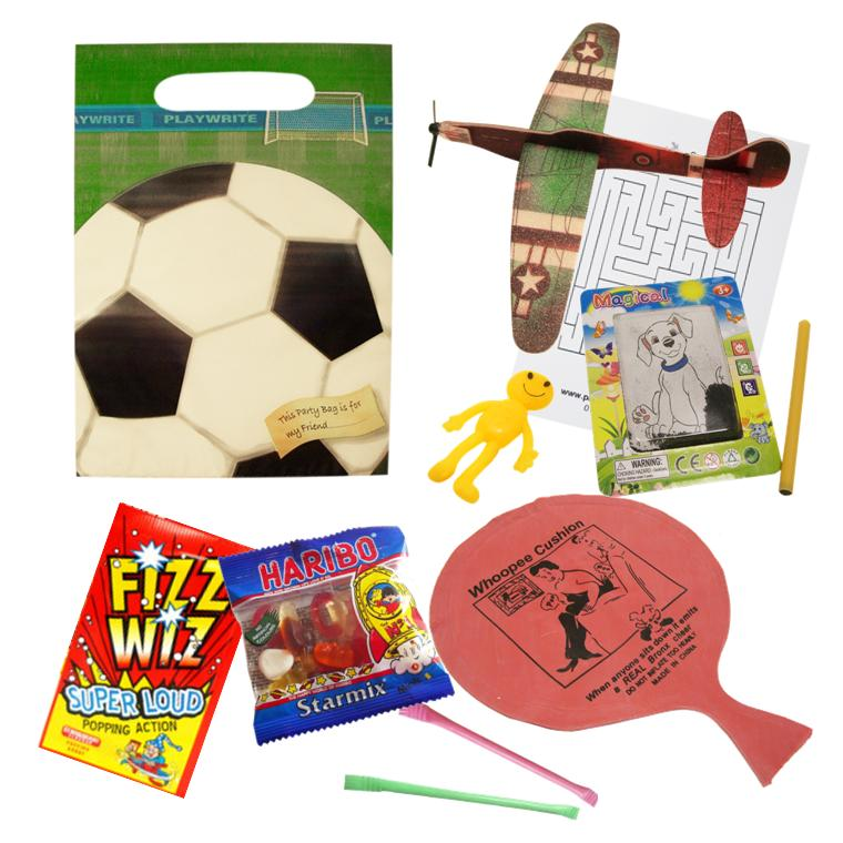Boys Football Pre-filled Party Bags