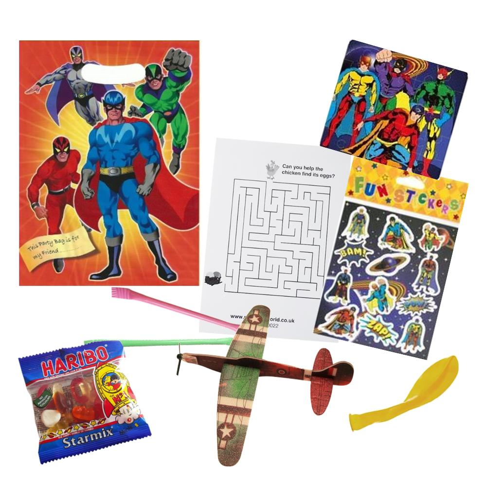 Superhero Pre-filled Party Bags