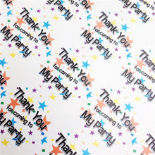 Load image into Gallery viewer, 35 x Thank You Star Sweet Cone and Party Bag Stickers