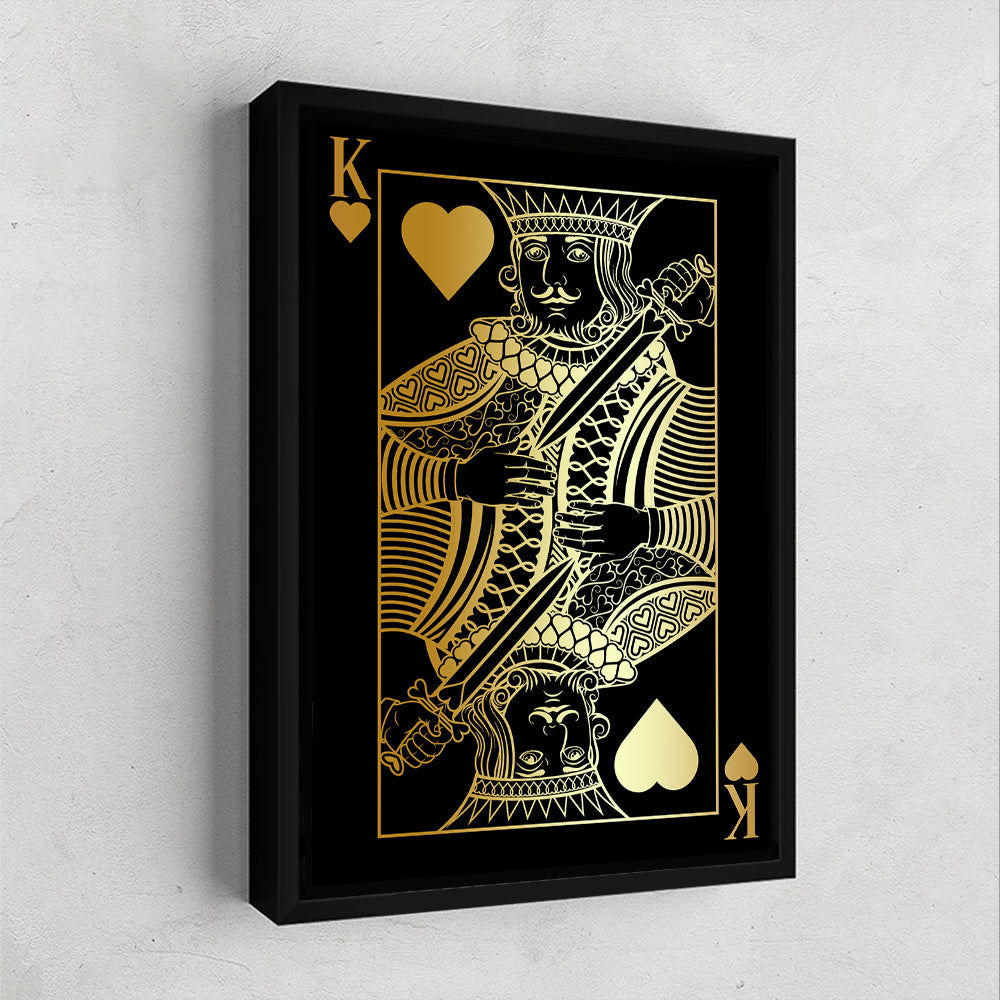 King of Hearts Gold Gallery Canvas Wall Art - By Design Studios
