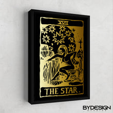 Load image into Gallery viewer, The Star Tarot Card Gold Gallery Canvas Wall Art