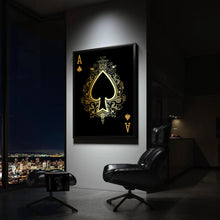 Load image into Gallery viewer, Ace of Spades Gold Gallery Canvas Wall Art - By Design Studios