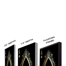 Load image into Gallery viewer, Jack of Hearts Gold Gallery Canvas Wall Art - By Design Studios