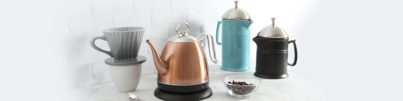 craft coffee collection pour over and french press