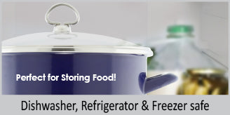8 qt enamel on steel stock pot refrigerator dishwasher and freezer safe