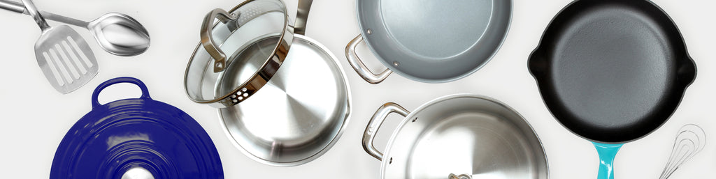 assorted cookware items available for bundling in the offer