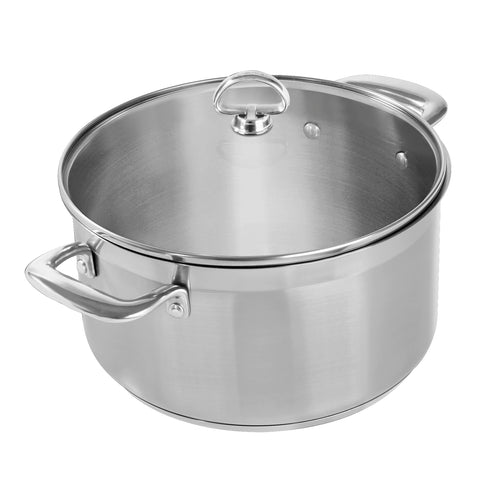 6 quart induction 21 stainless steel stock pot