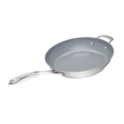 12.5 inch ceramic coated ID21 fry pan on white background